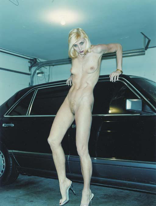 Helmut Newton-Evie and her Mercedes, Beverley Hills-1996