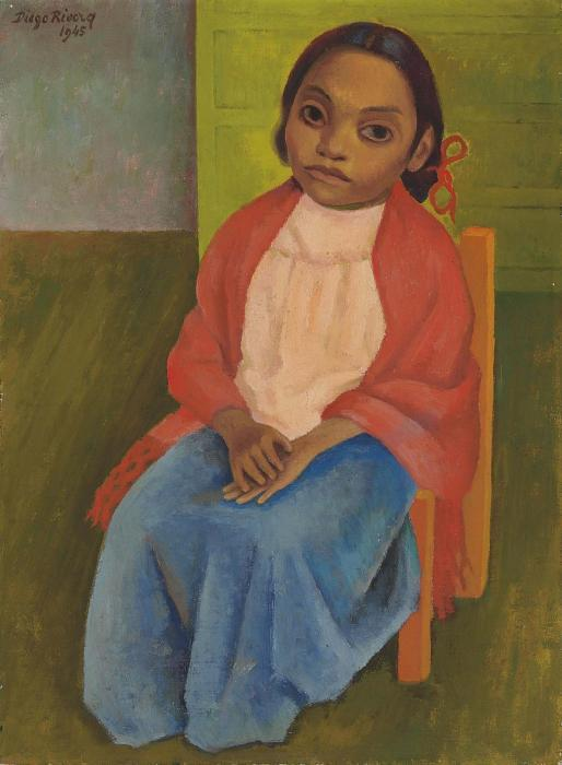 Diego Rivera-Retrato de Julieta-1945