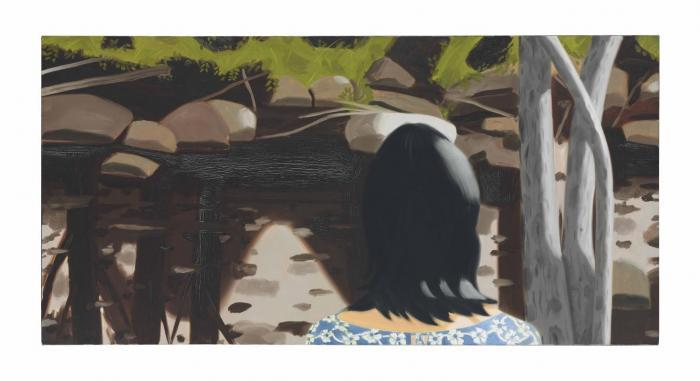 Alex Katz-Ada in Front of Black Brook-1988