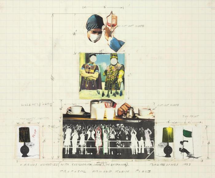 John Baldessari-Various Victories (with Sustenance, Choices, and Guidance) Proposal Arnold Klein Piece-1993
