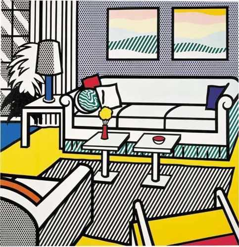Roy Lichtenstein-Interior with Restful Paintings-1991