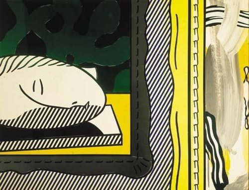 Roy Lichtenstein-Two Paintings: Sleeping Muse-1983