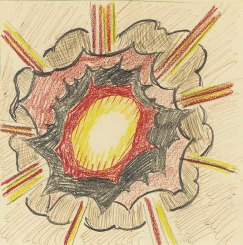 Roy Lichtenstein-Study for Explosion-1965
