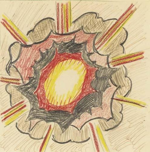Roy Lichtenstein-Study for Explosion-1965
