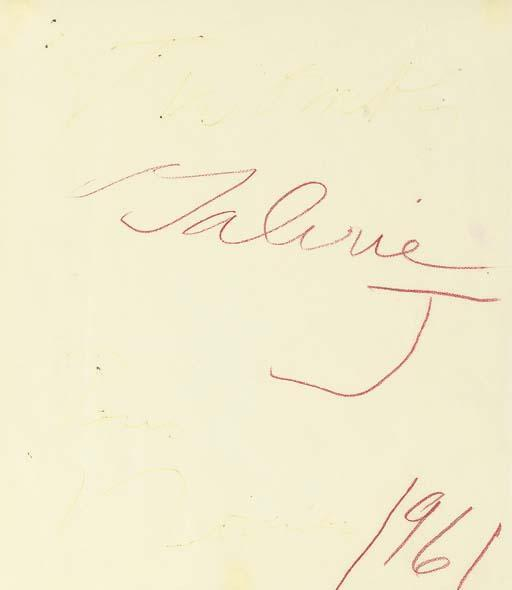 Cy Twombly-Galerie J No.4-1961