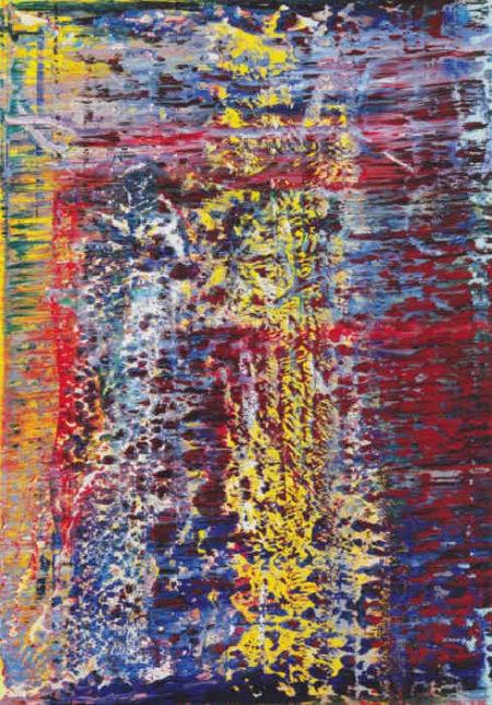 Gerhard Richter-Abstraktes Bild 652-1 (Flint Tower)-1988