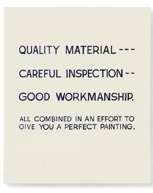 John Baldessari-Quality Material-1968
