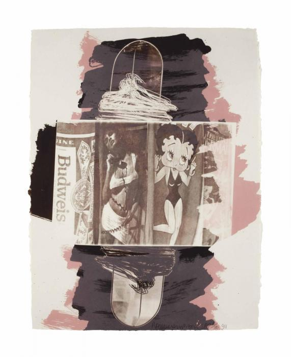 Robert Rauschenberg-Robert Rauschenberg - Hollywood Sphinx (From Illegal Tender L.A.)-1991
