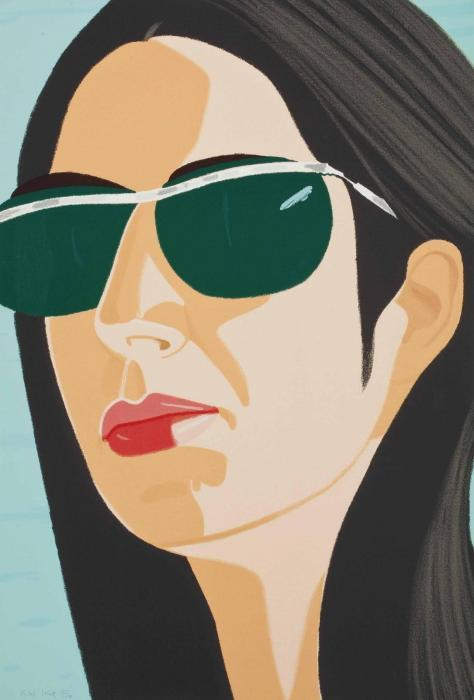 Alex Katz-Ada with Sunglasses; Sweatshirt 2-1990