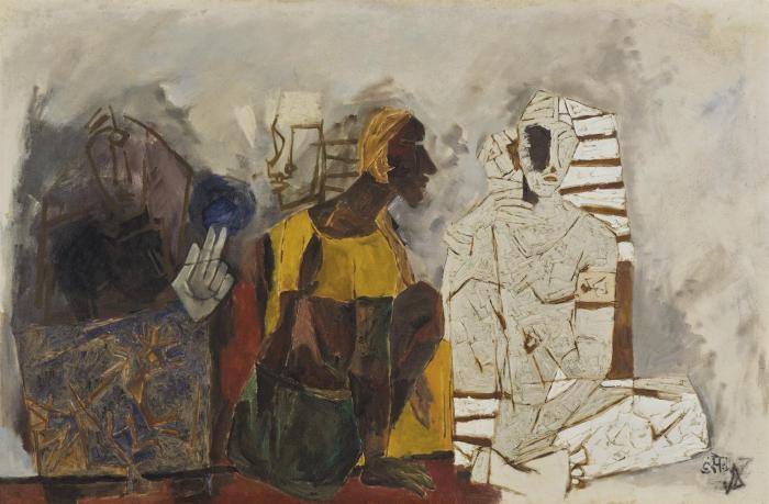 Maqbool Fida Husain-Ritual-1968