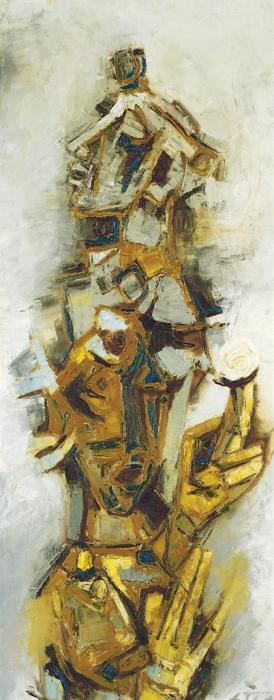 Maqbool Fida Husain-Masks-1964