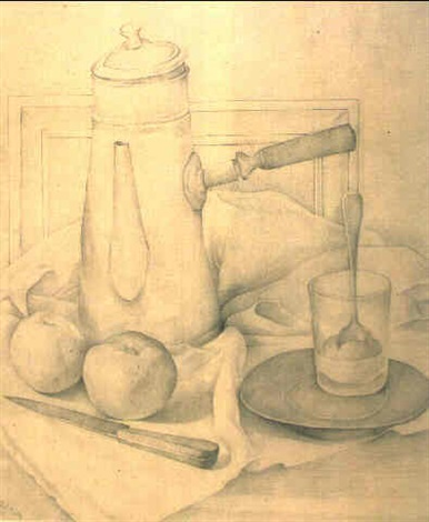 Diego Rivera-Still Life with Coffee Decanter-1918
