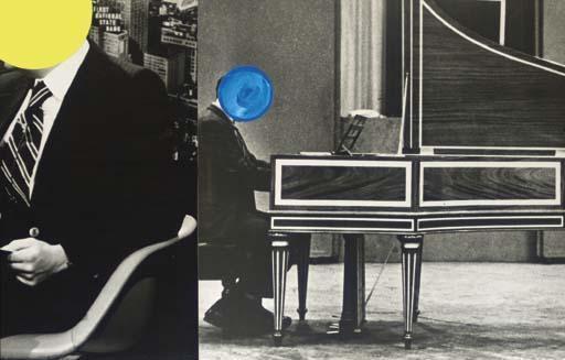 John Baldessari-Newsman, Harpsichordist-1988