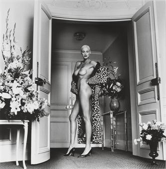 Helmut Newton-Brigit Nielsen at the Hermitage Hotel, Monte Carlo-1987