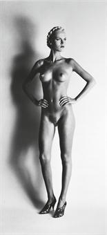 Helmut Newton-Big Nude I: Lisa, Paris-1980