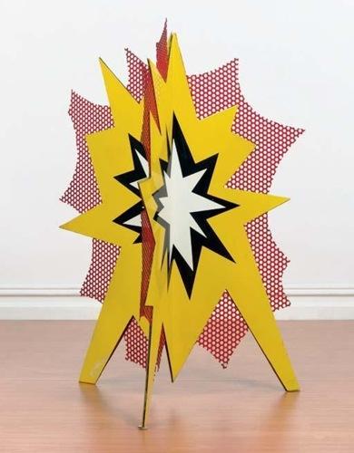 Roy Lichtenstein-Standing Explosion #1 (yellow)-1966