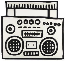 Keith Haring-Keith Haring - Untitled (Boombox)-1984