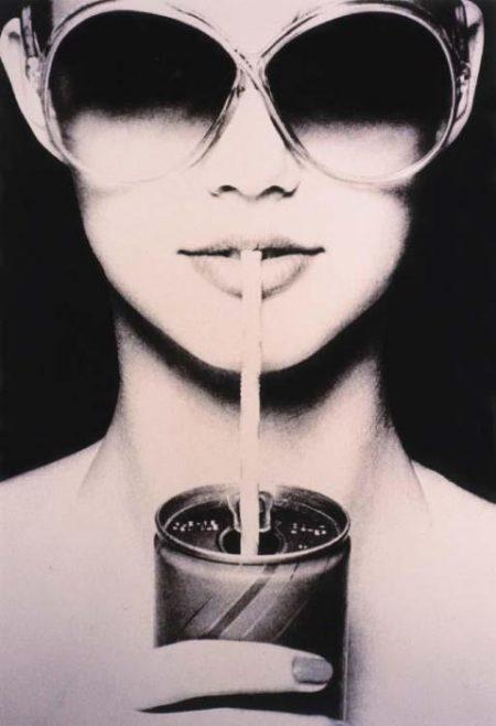 Richard Prince-Untitled (Sunglasses, Straw & Soda)-1982