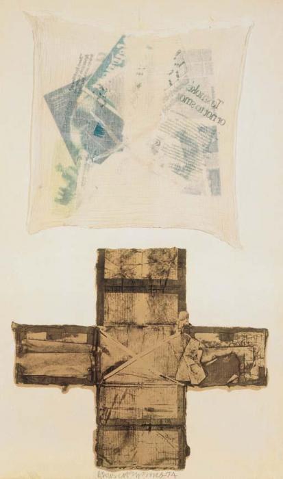 Robert Rauschenberg-Robert Rauschenberg - Untitled (Egyptian Series)-1974