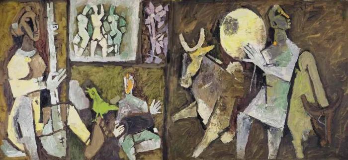 Maqbool Fida Husain-Untitled (Ragini)-1970