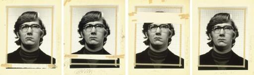 Chuck Close-Study for Keith 4 Times-1975