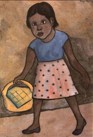 Diego Rivera-Nina con cesta-