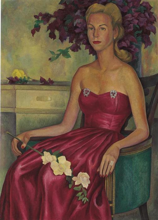 Diego Rivera-Portrait of Muriel Shirley Lipsey-1948