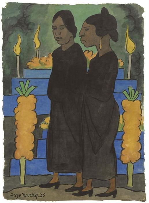Diego Rivera-Two women-1936