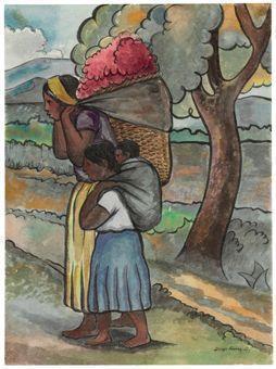 Diego Rivera-Vendedora de flores-1941