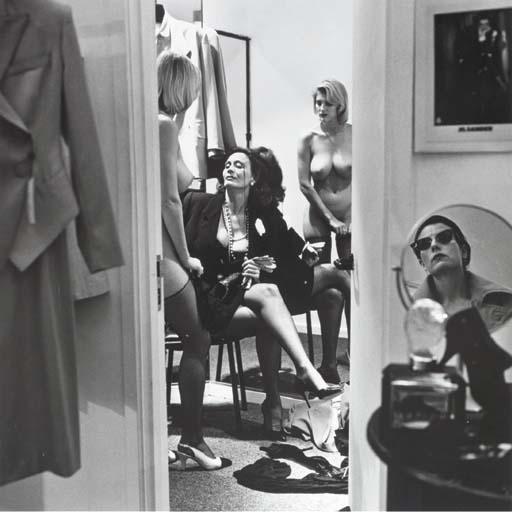 Helmut Newton-Nudes through Doorway-1989