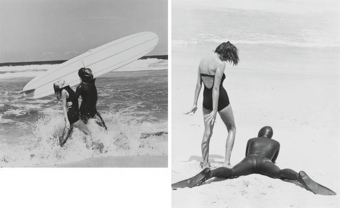 Helmut Newton-Beach Fashion (1964)-1964