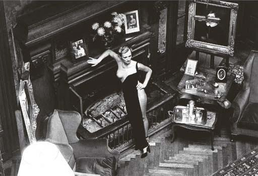 Helmut Newton-Roselyne Photographed In August 1975 In The Chateau Arcangues (1975)-1975