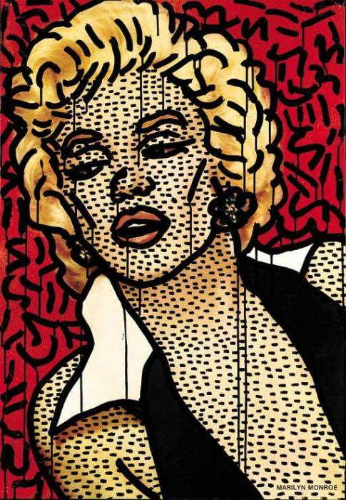 Keith Haring-Keith Haring - Untitled, Marilyn-1981