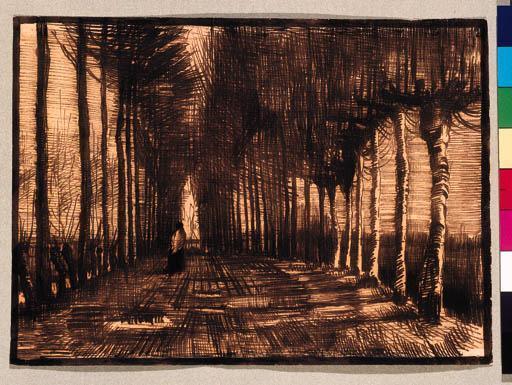 Vincent van Gogh-Personnage sur la route-1884
