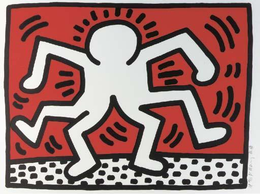 Keith Haring-Keith Haring - Double Man-1986