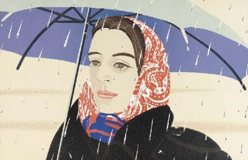 Alex Katz-Blue Umbrella (Maravall, 121)-1980