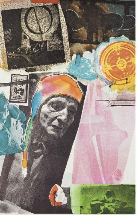 Robert Rauschenberg-Robert Rauschenberg - Homage to Frederick Kiesler-1966
