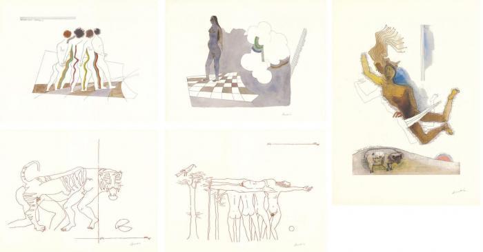 Maqbool Fida Husain-Passage into Human Space-1975