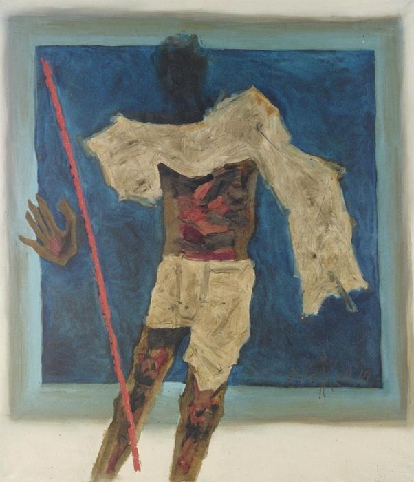 Maqbool Fida Husain-Gandhi - Man of Peace-1969