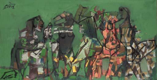 Maqbool Fida Husain-New York-1964