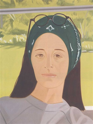 Alex Katz-Ada with Glasses-1977