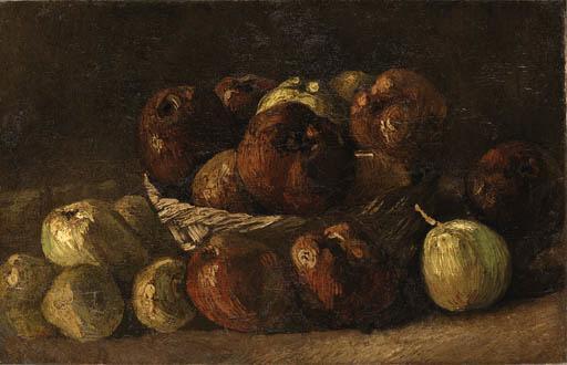 Vincent van Gogh-Still Life, basket with Apples-1885