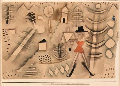 Paul Klee-Kleine Winterlandschaft Mit Dem Skilaufer (Small Winter Landscape With Skier)-1924