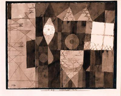 Paul Klee-Helldunkel-Studie (Chiaroscuro Study)-1921