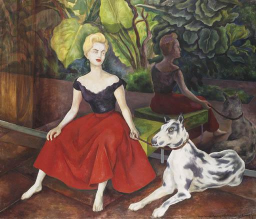Diego Rivera-Interior de Cuernavaca-1954