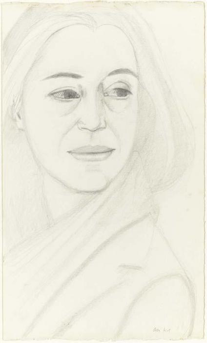 Alex Katz-Black Scarf-1995