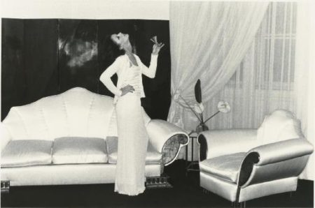 Helmut Newton-Annie Duperey At Karl Lagerfeld's Apartment, Paris (1974)-1974