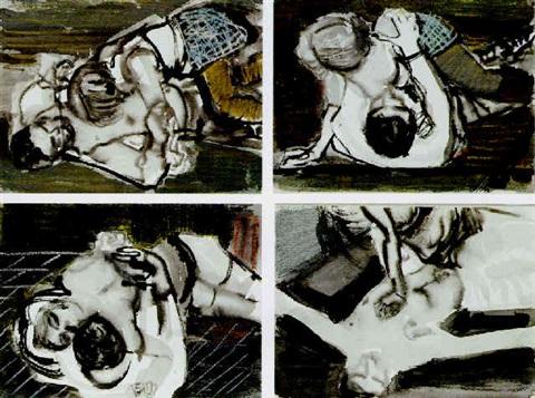 Marlene Dumas-Checkered Skirt-1993