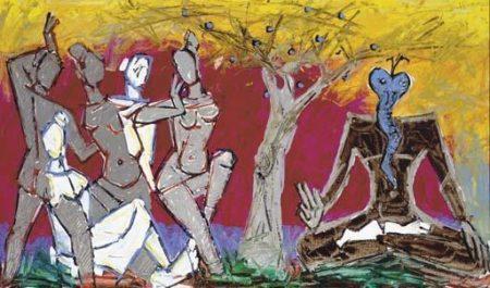 Maqbool Fida Husain-Untitled (Shiva)-1982