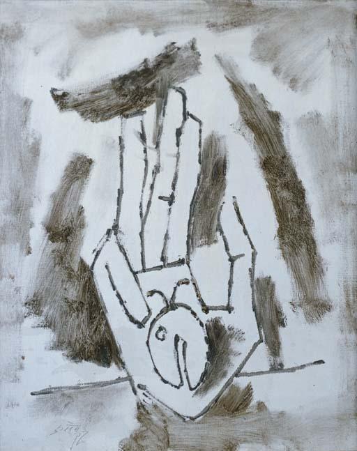 Maqbool Fida Husain-Untitled (Hand)-
